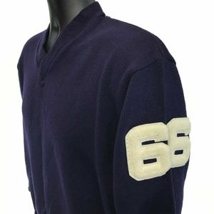 Vtg 60's H L Whiting Varsity '66 Sweater 44 V Neck